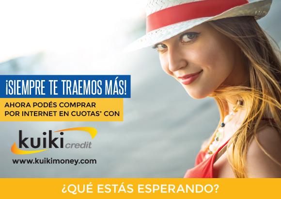 ¡Siempre te traemos más! Ahora podés comprar por Internet en cuotas* con Kuiki Credit www.kuikimoney.com ¿Qué estás esperando?
